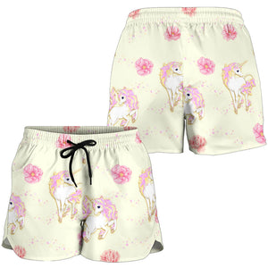 Yellow Unicorn Fantastic Women's Shorts