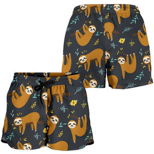 Sloth Hanging Dark Women's Shorts