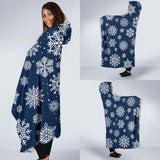 Blue Snowflake Hooded Blanket