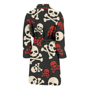 Cute Skulls Crossbones Men's Bath Robe