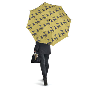 Yellow Dog Irish Wolfhound Umbrellas