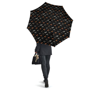 Black Hunting Dog Umbrellas