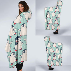 Dance Penguins Hooded Blanket