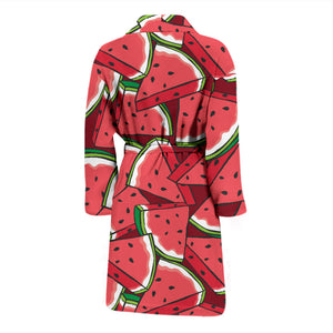 Red Watermelons Men's Bath Robe