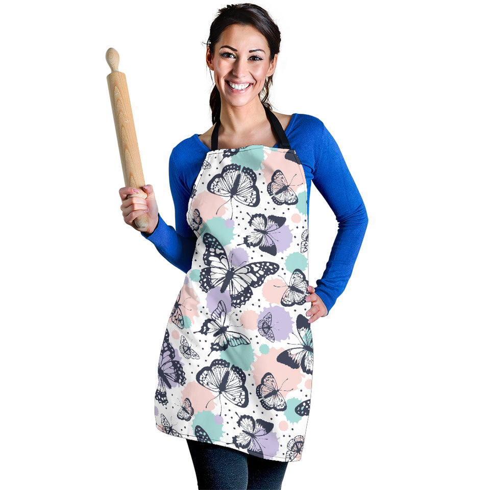Butterfly Vintage Color Women's Apron