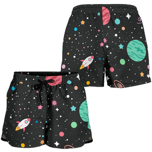 Outer Space Pattern 6 Women's Shorts