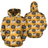 Papillon Dog Yellow All Over Hoodie