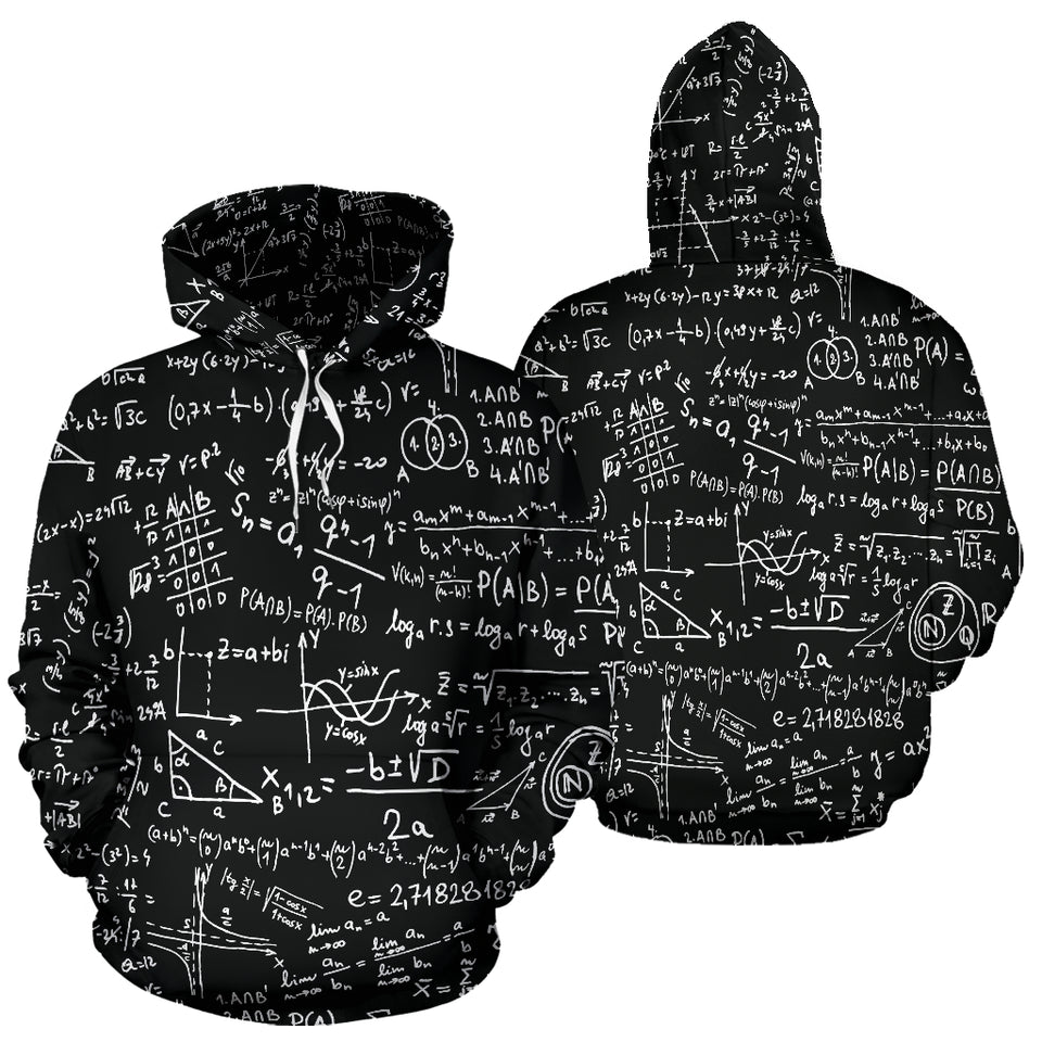 Math Black All Over Hoodie