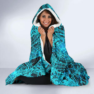 Halloween Dark Spider Web Hooded Blanket