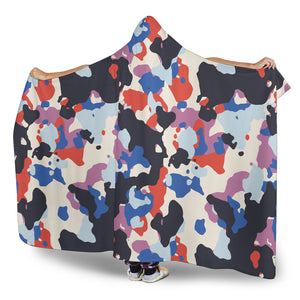 Camouflage Colorful Camo Urban Hooded Blanket