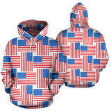 American Flag Cross Over All Over Hoodie