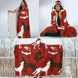 Halloween Red Wolf Hooded Blanket