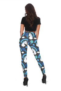 Unicorn Rainbow Dark Women's Leggings