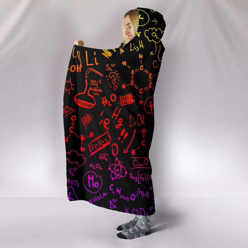 Chemistry Color Hooded Blanket
