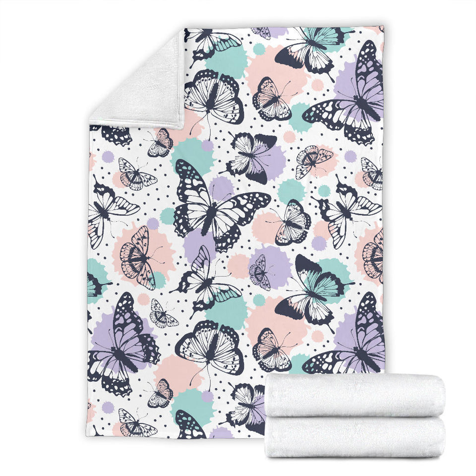 Butterfly Vintage Color Premium Blanket