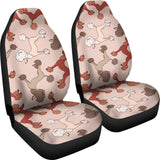 Brown Cute Poodles Car Seat Covers