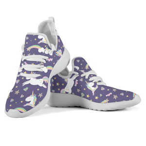 Purple Magical Unicorns Mesh Knit Sneakers