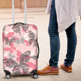 Pink Butterfly Luggage Covers