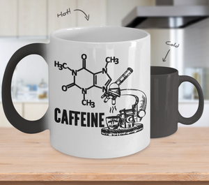 Funny Science Gifts Caffeine Molecule Color Changing Mug