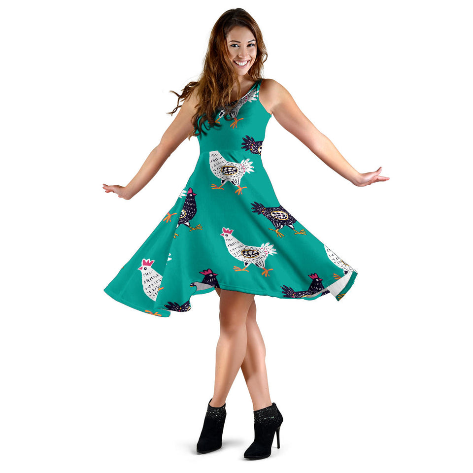 Green Cute Chicken Dress