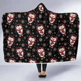 Penguin In Snow Hooded Blanket