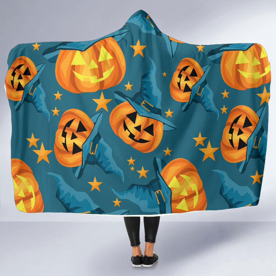 Halloween Pumpkin Hooded Blanket