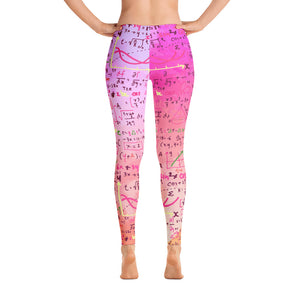 Mathematics Pink Leggings