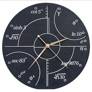 Advanced Mathematics Wall Clock