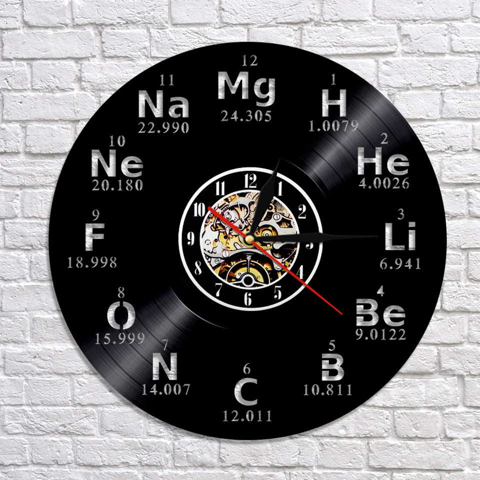 Chemical Element Periodic 3D Wall Clock