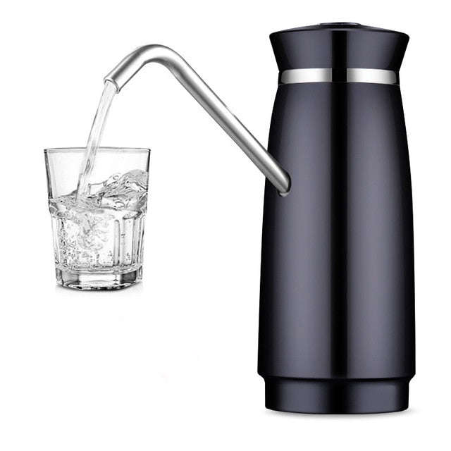 Automatic Electric Water cooler Pump Dispenser Rechargeable Stainless Steel