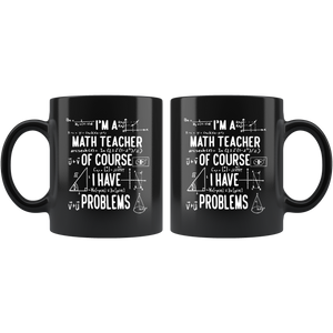 Math Teacher - Black 11oz Mug