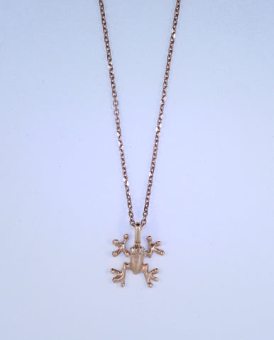 14KT Small Frog Necklace