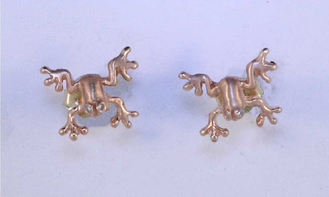 14KT Frog Earrings