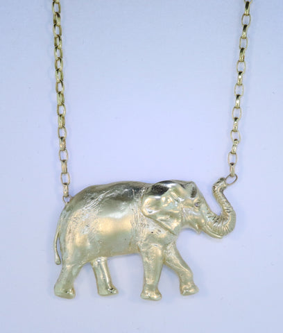 14KT Elephant Necklace