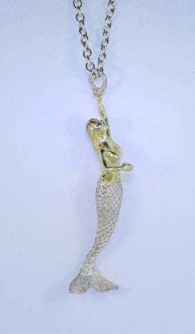 SS/18KT Mermaid Necklace