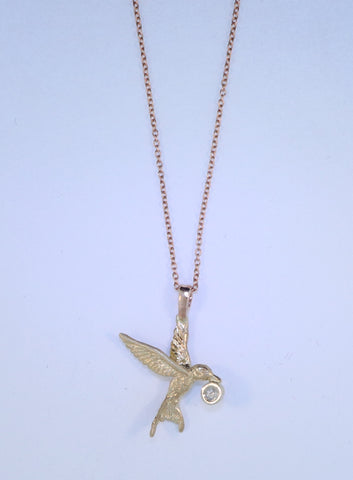 14KT Hummingbird Necklace