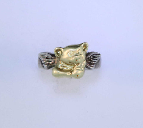 "SS/18KT ""When Pigs Fly"" Ring"