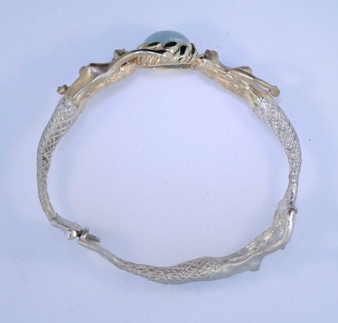 SS/14KT Mermaid Bangle Bracelet