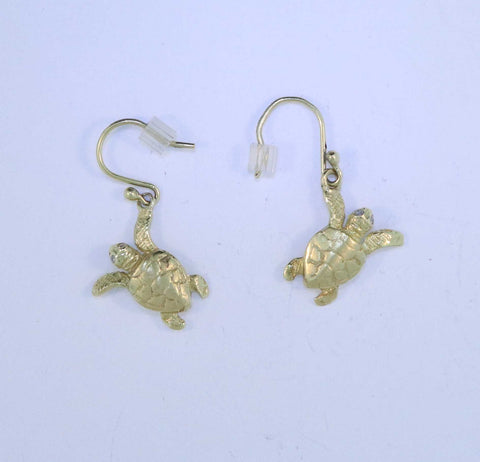 18KT Turtle Earrings