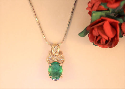 14KT Emerald Necklace