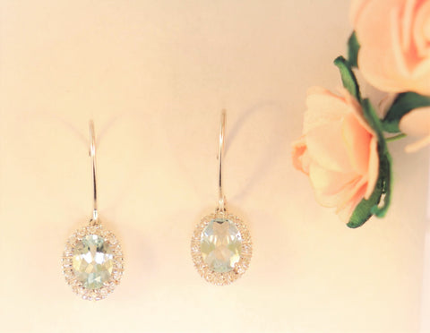 14KT Aquamarine Earrings