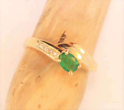 14KT Emerald Ring