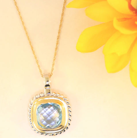 14KT Blue Topaz Necklace