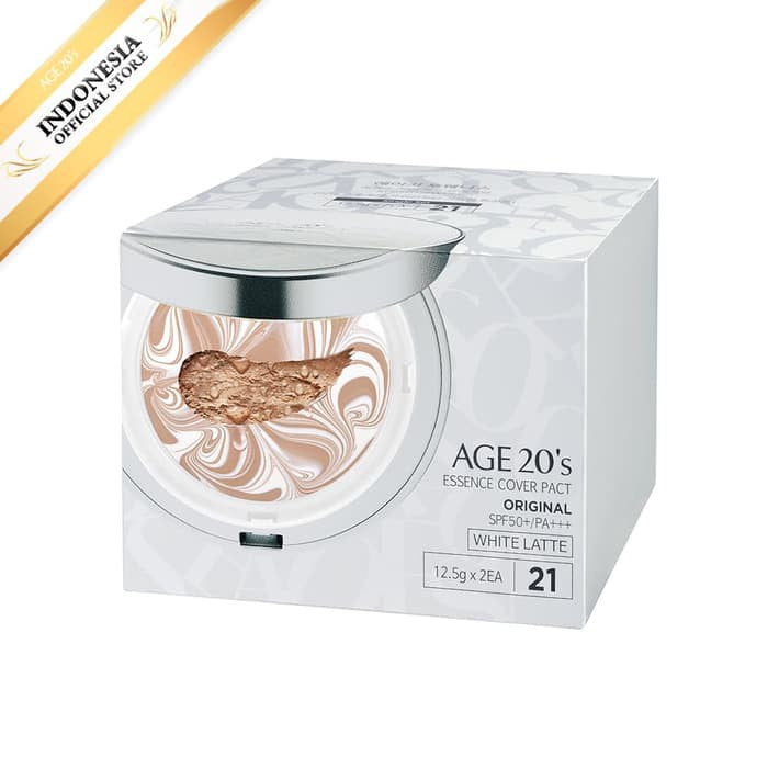 AGE 20'S ESSENCE COVER PACT ORIGINAL WHITE LATTE #21