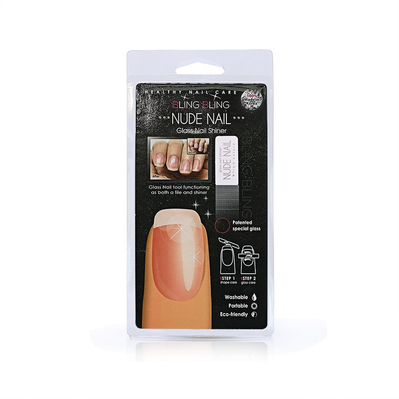 Nude nail glass nail shiner made in Korea
