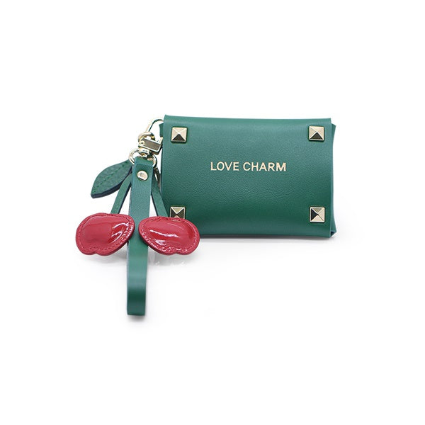 Love Charm Green Card Wallet