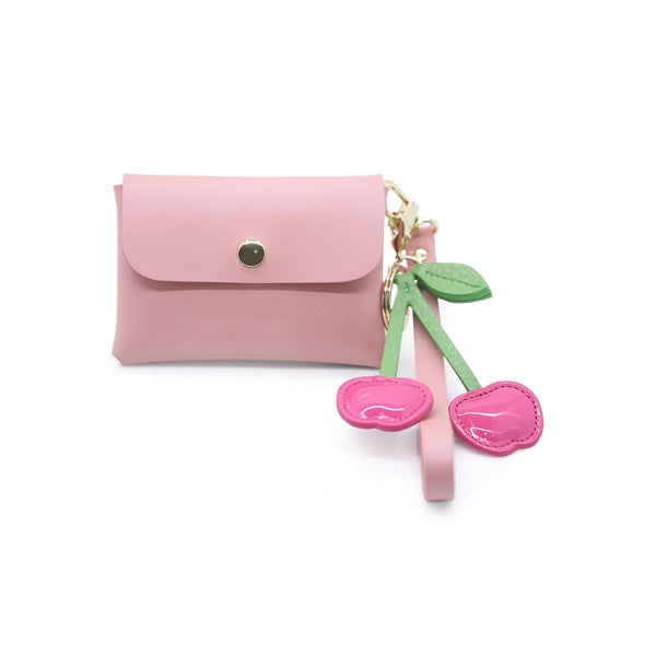 Love Charm Pink Card Wallet