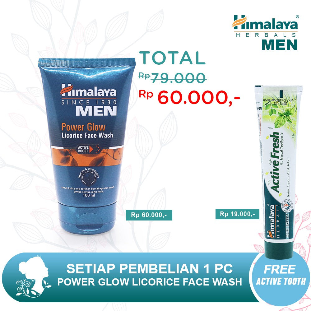 Himalaya Men Power Glow Licorice Face Wash 100ML