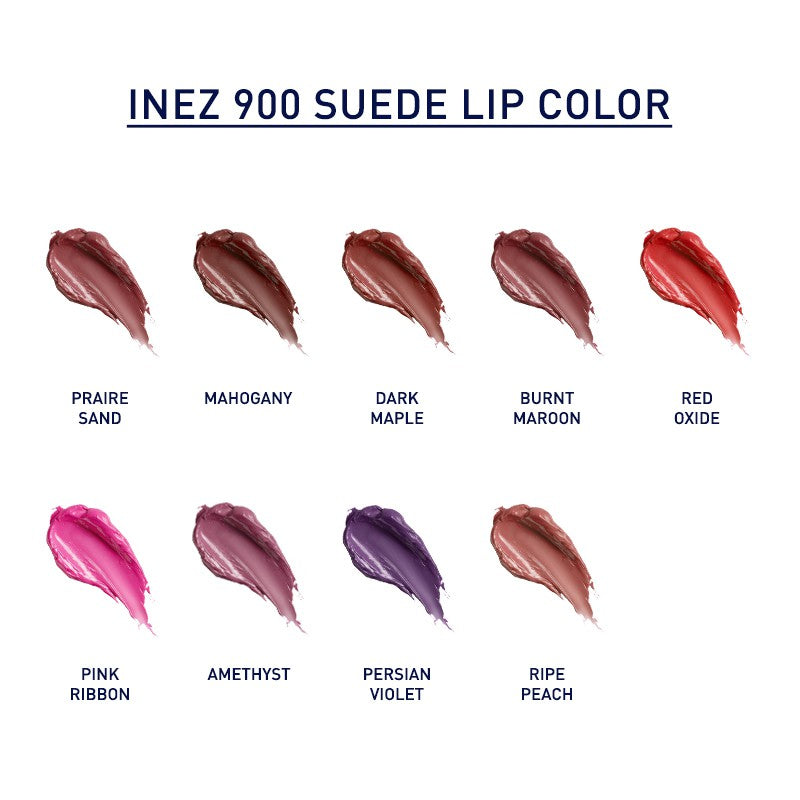 Inez 900 Suede Lip Color - Dark Maple