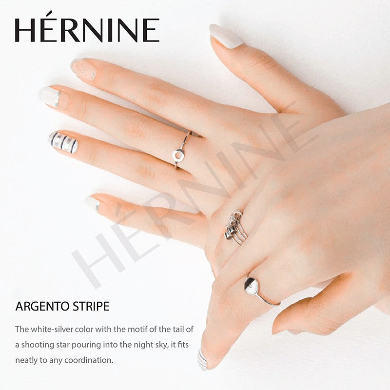 HERNINE GEL NAIL STICKER (ARGENTO STRIPE)